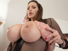A Man cream Injection For A 34DDD Brunette