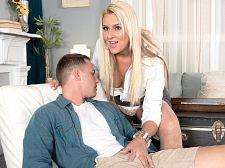 Tall, blonde MILF's 1st XXX