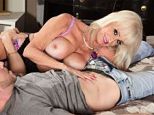 Leah's 1st movie screw is with a youthful stud