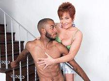 Ruby O'Connor's 1st bigger in size than average, dark-skinned cock